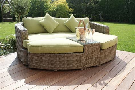 Patio Furniture Direct Milano Natural Rattan Garden Furniture Daybed Sofa Stool