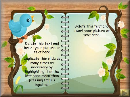 Story Writing Children S Story Book Template