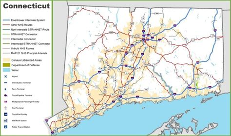 printable connecticut road map connecticut road map