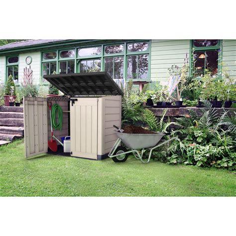 meuble jardin leroy merlin armoire de jardin r 233 sine conquershed beige marron l 146 x h 125 x p 82 cm leroy merlin