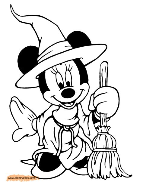 minnie mouse coloring pages halloween let them decorate his room with things halloween themed