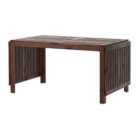 ikea outdoor dining 196 pplar 214 drop leaf table outdoor brown ikea