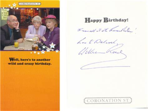 Coronation Birthday Card Special Autographed Items Deborah S Coronation Street