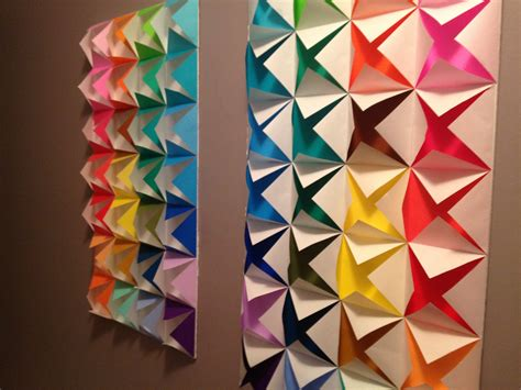 Origami Wall - colorful origami wall color craze