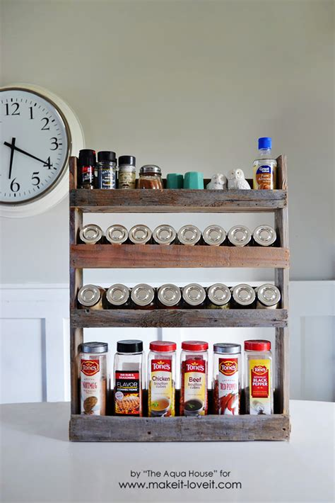 diy shelf spice rack diy pallet spice rack make it and it