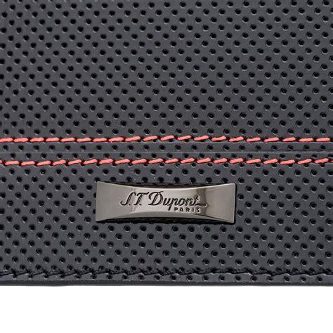 s t dupont mclaren defi perforated leather passport