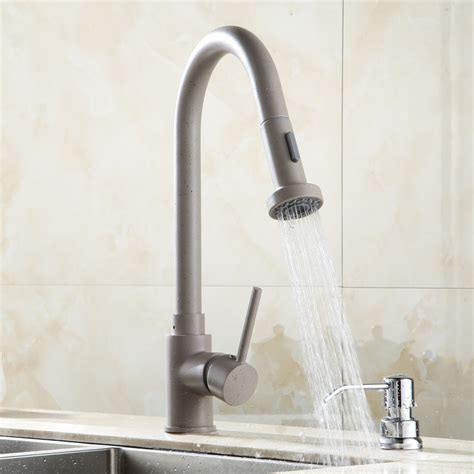 discount kitchen faucets pull out sprayer single handle deck mounted kitchen sink faucet with pull out sprayer funitic