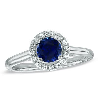lab created blue sapphire and 0 15 ct t w