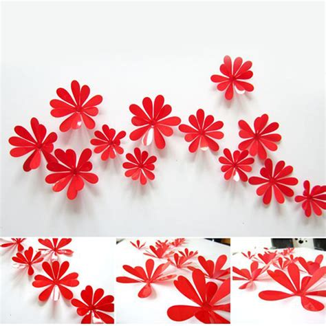 Stickers For Kitchen Walls kilimall diy 3d flowers wall sticker mirror art decal pvc