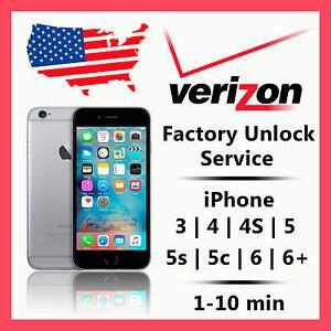verizon unlock code service iphone