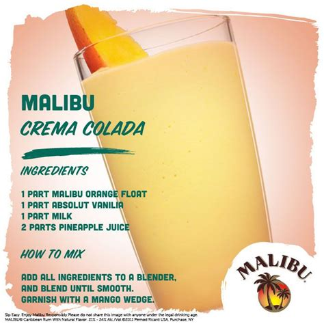 mix with malibu rum 17 best images about malibu cocktail creations on