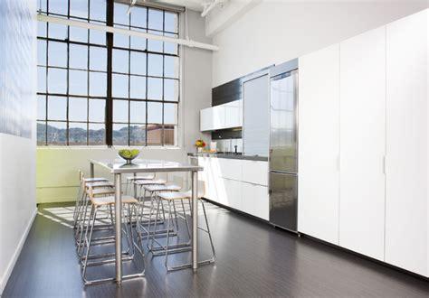 Apartment Kitchen Storage Ideas Modern White Loft Kitchen Modern Kitchen San