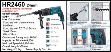 Bor Makita Hr 2460 drills makita hr2460 rotary hammer drill was sold for r1 250 00 on 24 sep at 21 31 by laser