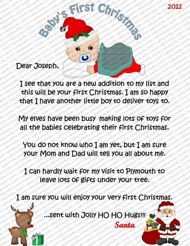 free printable baby s first letter from santa babies 1st christmas oh the weather outside is frightful