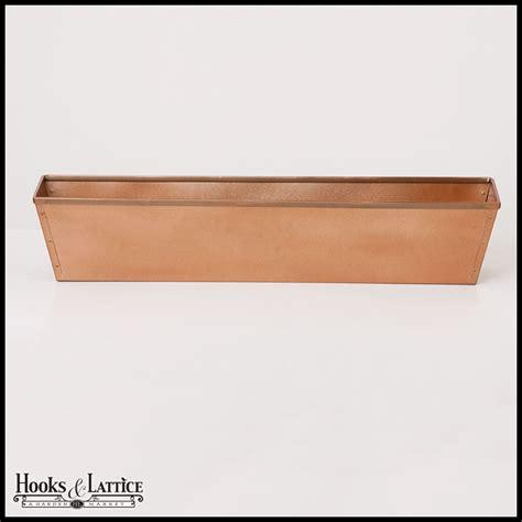 window box hooks 30in galvanized window box copper tone