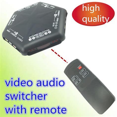 Promo Promo Promo 3 Way Av Switcher Selector Multi Av Switch Merk Suoe 1pcs av switcher av switch 4 way quality converter audio selector for tv av666 with