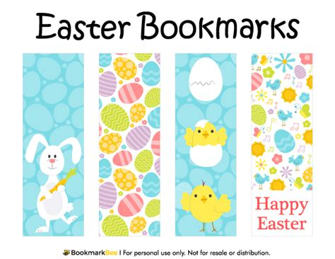 printable bookmarks pdf free printable easter bookmarks download the pdf template
