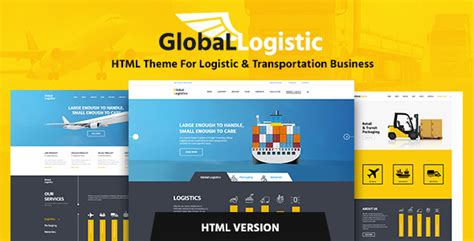 Global Logistics Transportation Html Template By Themerex Themeforest Logistics Website Template