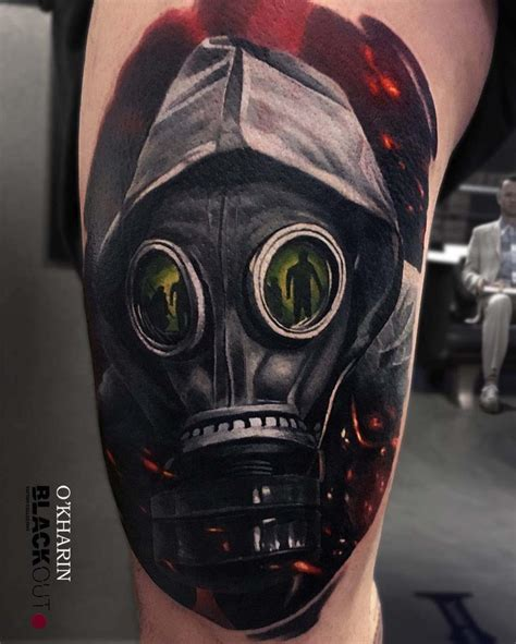 gas mask tattoo 10 intimidating gas mask designs