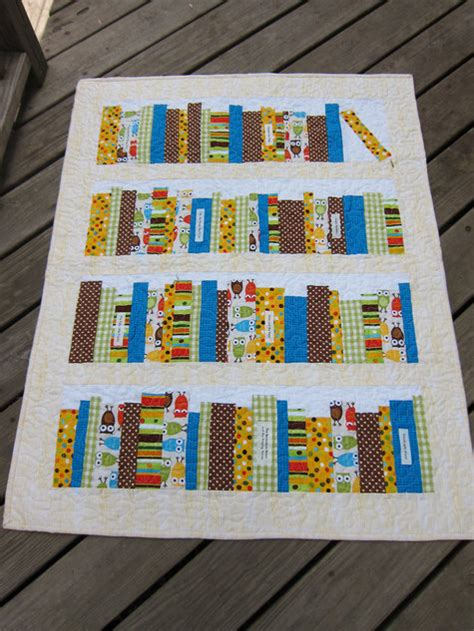 Bookshelf Quilt Pattern by Bookshelf Baby Quilt Sewing Projects Burdastyle