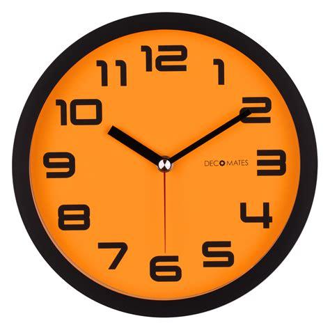 silent wall clock color block orange pumpkin silent wall clock decomates