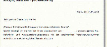 Kfz Versicherung K Ndigen Verkauf by Office Vorlagen Seite 3 Von 4