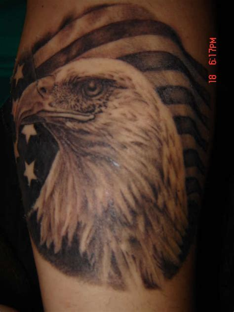 american flag eagle tattoo 95 bald eagle with american flag tattoos designs with