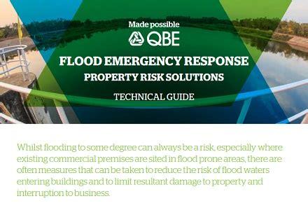qbe publishes flood emergency response property risk