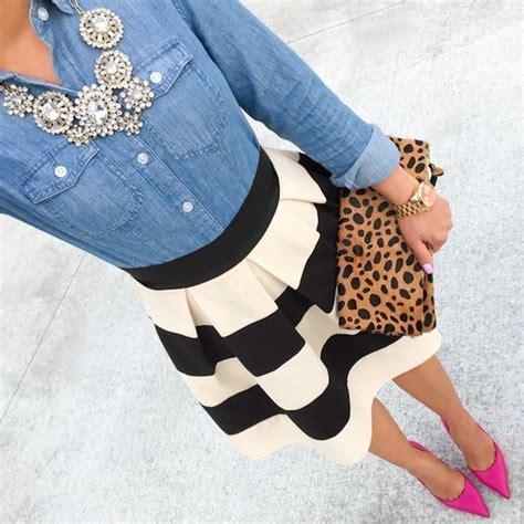 Wst 18465 White Flower Denim Skirt best 25 black and white skirt ideas on