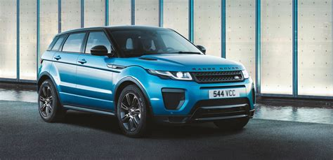 land rover evoque blue 2018 range rover evoque landmark celebrates the evoque s