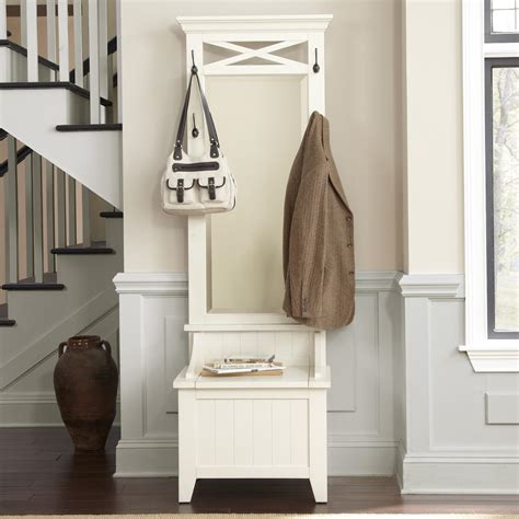 entryway bench with mirror entryway hall tree with mirror and bench by liberty