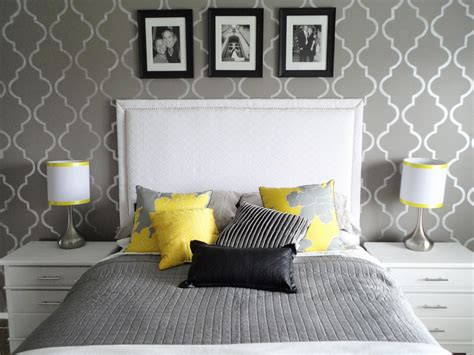 Black White Gray And Yellow Bedroom by Diy Inspiration