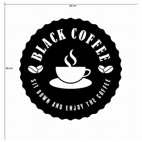 wallpaper hitam dof jual sticker black coffee shop dinding kaca cafe unik