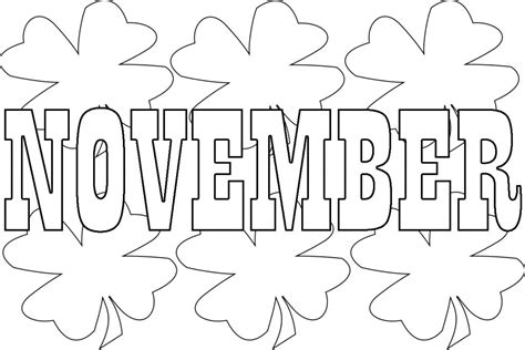 november coloring pages best november coloring pages for preschoolers toddlers