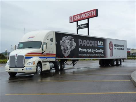 paccar canada kenworth t700 paccar mx to be showcased at kenworth