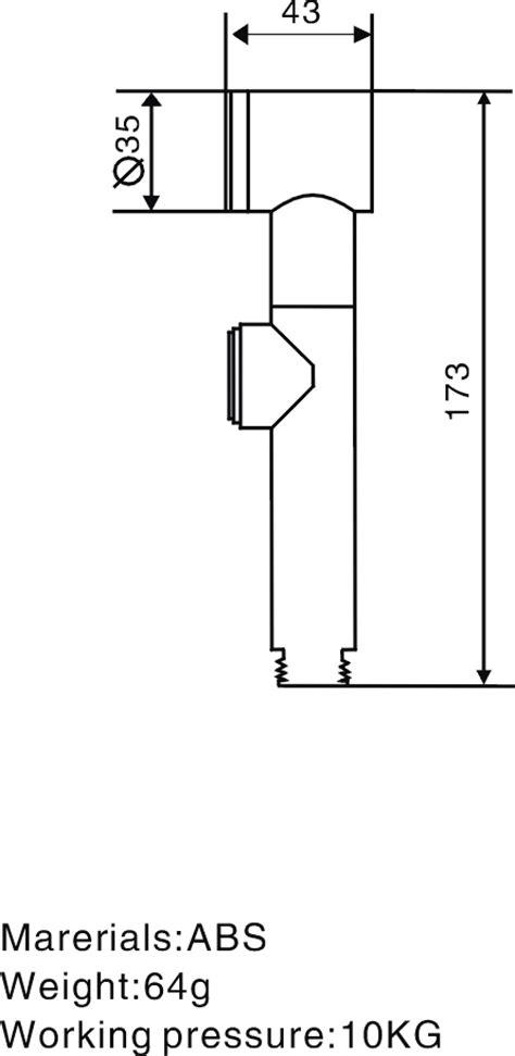 bidet drawing sanicare 1200 held bidet model s1200c