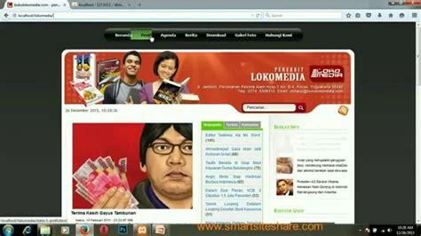 cara membuat website quick count cara mudah membuat website dengan cms lokomedia youtube