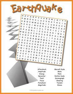 earthquake vocabulary photosynthesis crossword puzzle crossword puzzles