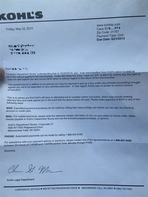 Civil Demand Letter From Jcpenney I Got A Civil Relief Letter For Shoplifting Should I Pay It