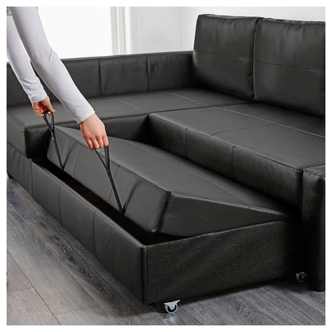 storage sofa bed friheten corner sofa bed with storage bomstad black ikea