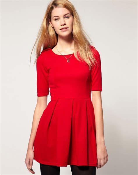 rotes kleid kleid