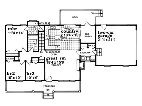 eplans farmhouse house plan one story country style