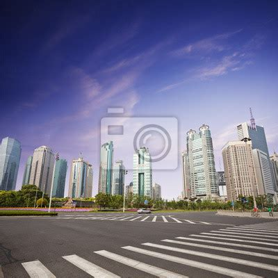 wall murals cityscapes wall mural cityscape of modern city shanghai abstract pixersize