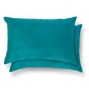 2 pack throw pillow lumbar teal room essentials target
