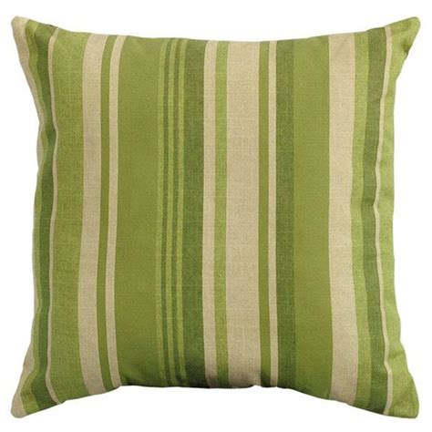 Home Decorators Outdoor Pillows by Home Decorators Collection Breezeway Stripe Green Square