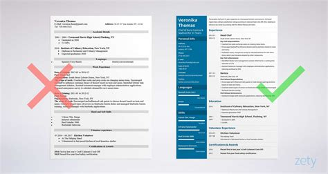 chef cv examples systematic likeness chefresume example resume