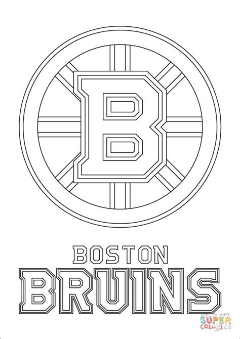 boston bruins logo coloring online super coloring