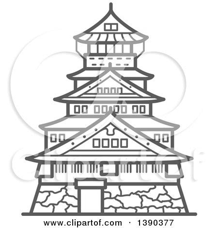 osaka castle coloring page royalty free asia illustrations by vector tradition sm page 1