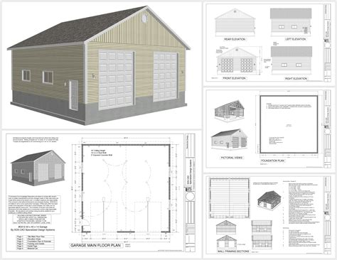 cheap garage plans g512 40 x 40 x 14 garage sds plans