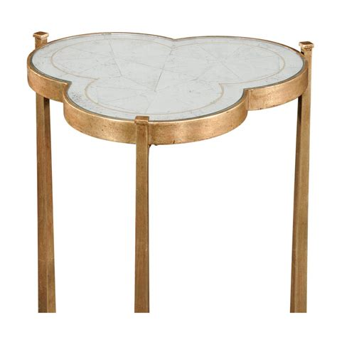 Gold Mirrored Side Table by Mirrored Side Table Gold Swanky Interiors